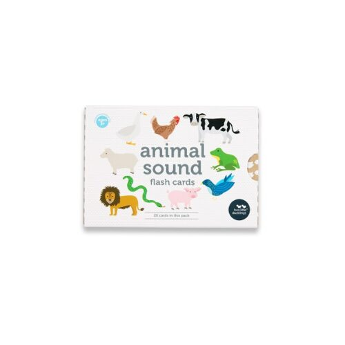Two Little Ducklings Animal sound Flash Cards front