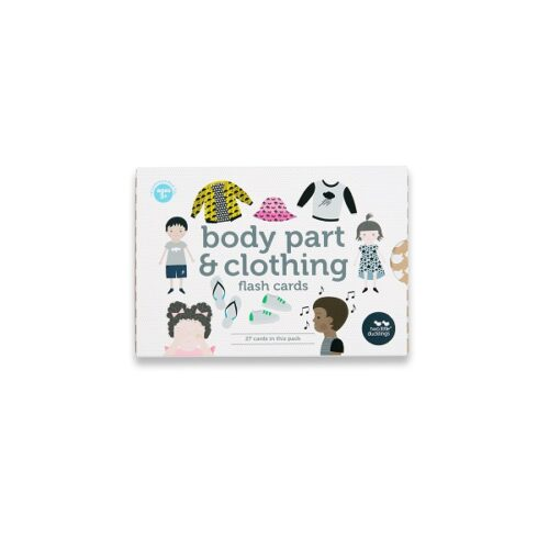 Two Little Ducklings Body and clothing flash cards front