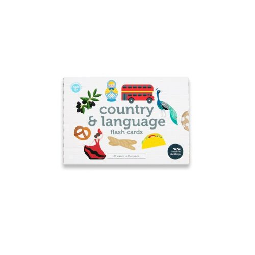 Two Little Ducklings country and language flash cards front