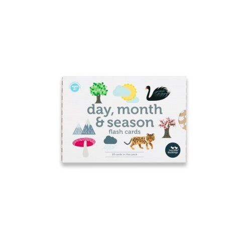 Two Little Ducklings days months and seasons flash cards front